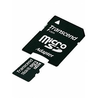 Transcend Micro SDHC hukommelseskort med adapter