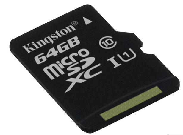 microSD kort + adapter