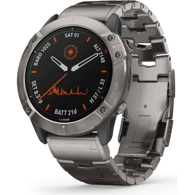 Fenix 6X Pro Solar Titanium with Titanium Bracelet