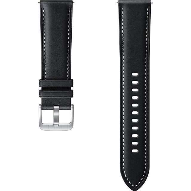 22mm Stitch Leather Band for Galaxy Watch 3