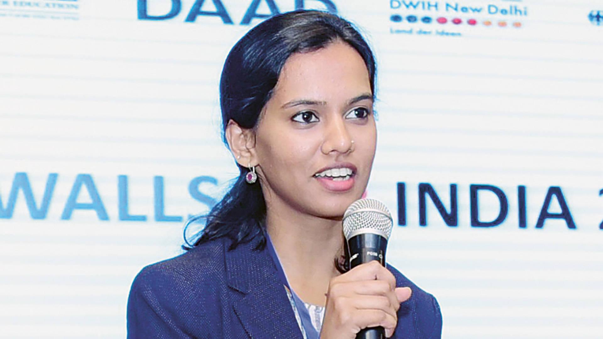 Aadishree Jamkhedkar, Programmkoordinatorin des DWIH Neu-Delhi