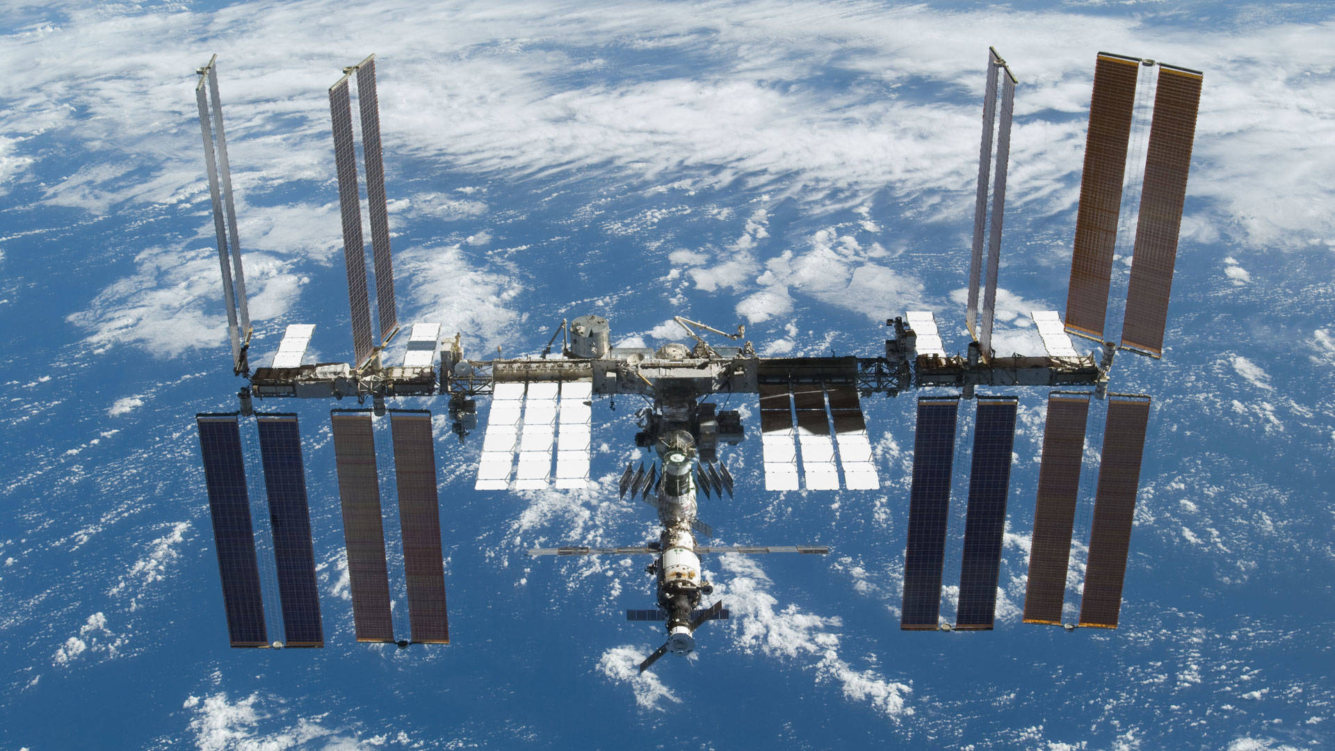 A view of the International Space Station ISS: another example of German-Russian cooperation