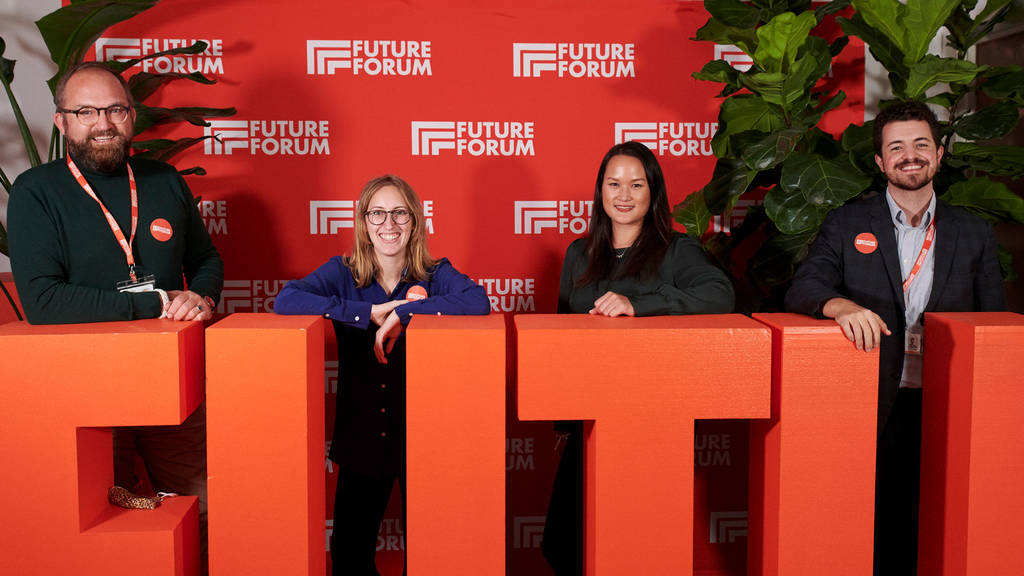 Program Manager Fenner (left) and the team behind the FUTURE FORUM 2020