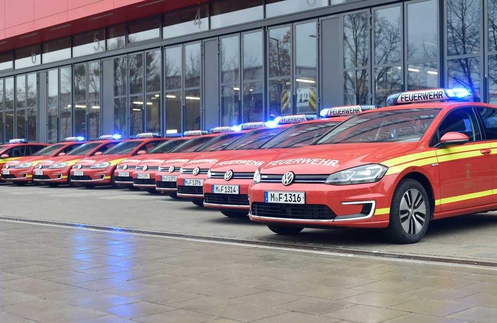 Berufsfeuerwehr München stellt 14 e-Golf in Dienst