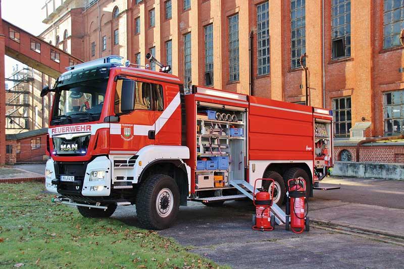 TLF 4000 mit vergrößertem  Löschwasserbehälter für Hoyerswerda