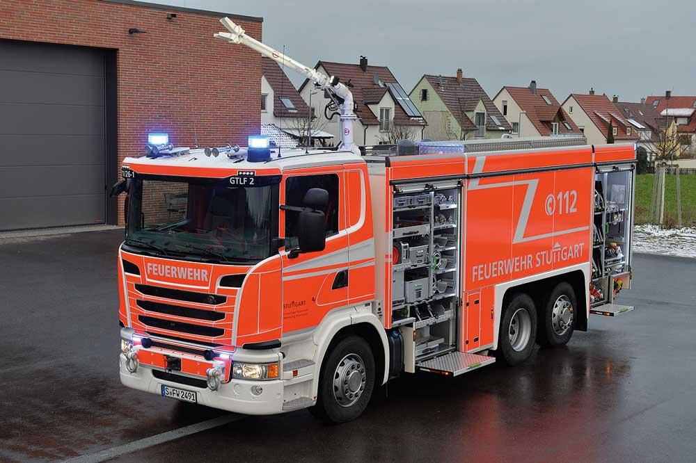 Stuttgart: drei GTLF 60/10000  für die Freiwillige Feuerwehr