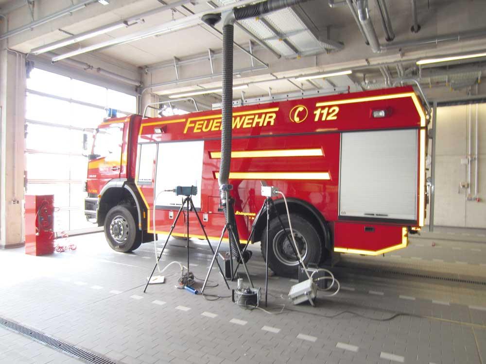 Abgase von Dieselmotoren  in Feuerwehrhäusern  aus Sicht des Arbeitsschutzes