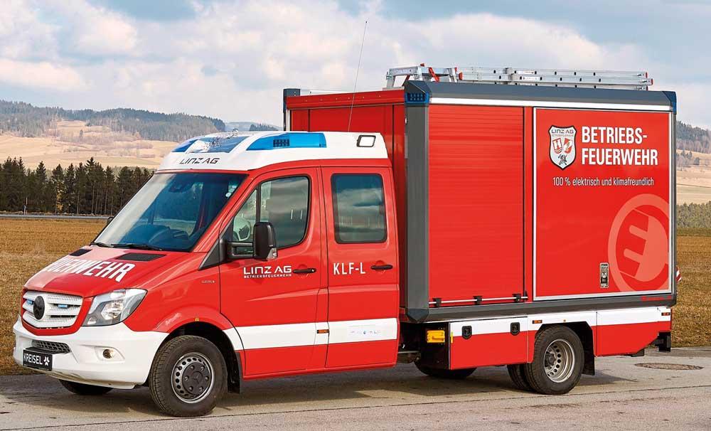KLF-Logistik mit Elektroantrieb von Rosenbauer