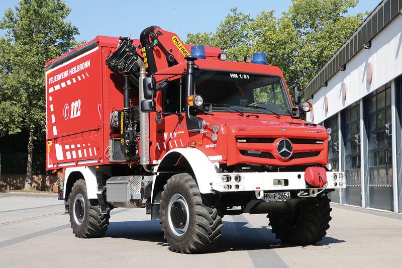 Ungewöhnlich: GW-Rüst der  Feuerwehr Heilbronn