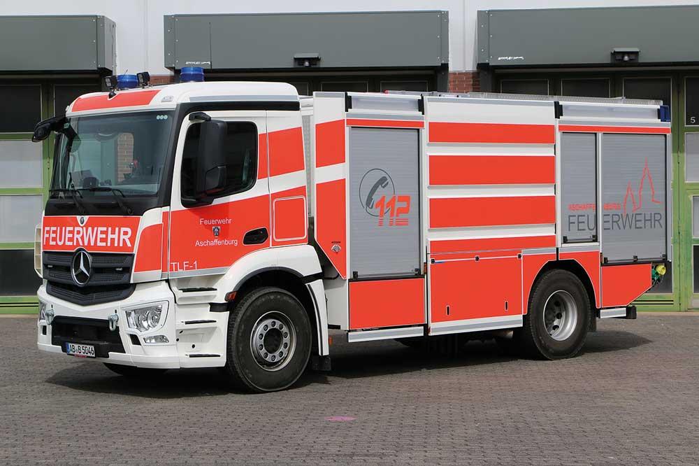 Feuerwehr Aschaffenburg stellt TLF 4000 auf MB Antos in Dienst