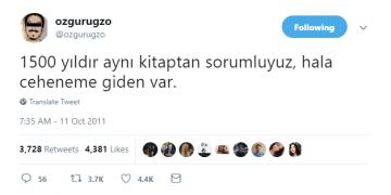 ozgurugzo adlı twitter fenomeninin en komik 14 tweetini derledik :)