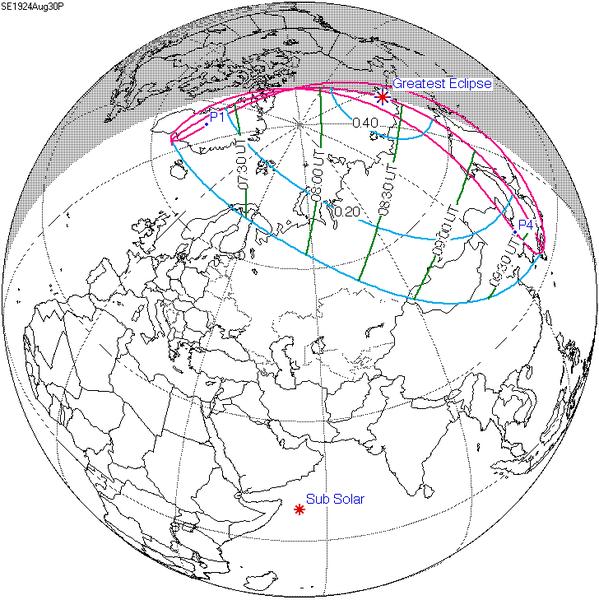 30 Ağustos 1924 günü Güneş Tutulması yaşanmış!