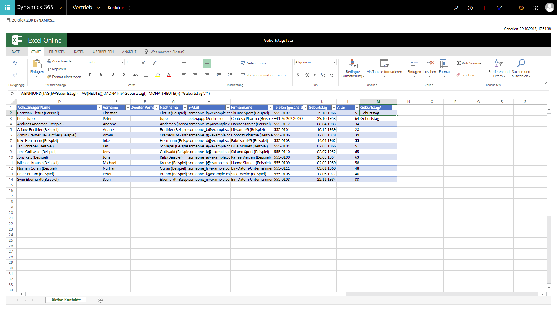 Excel Vorlagen In Microsoft Dynamics 365 Digicomp Blog