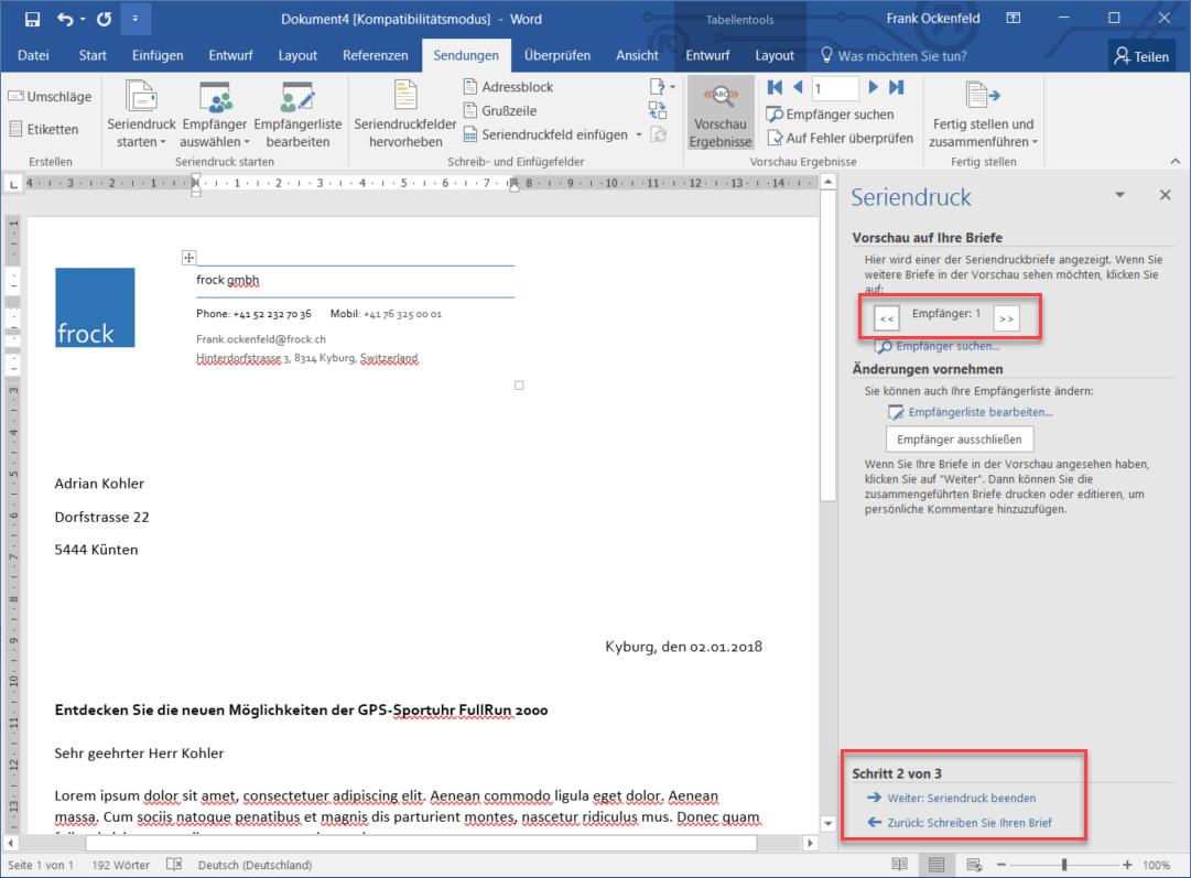 Serienbriefe erstellen mit Microsoft Dynamics 365 - Digicomp Blog