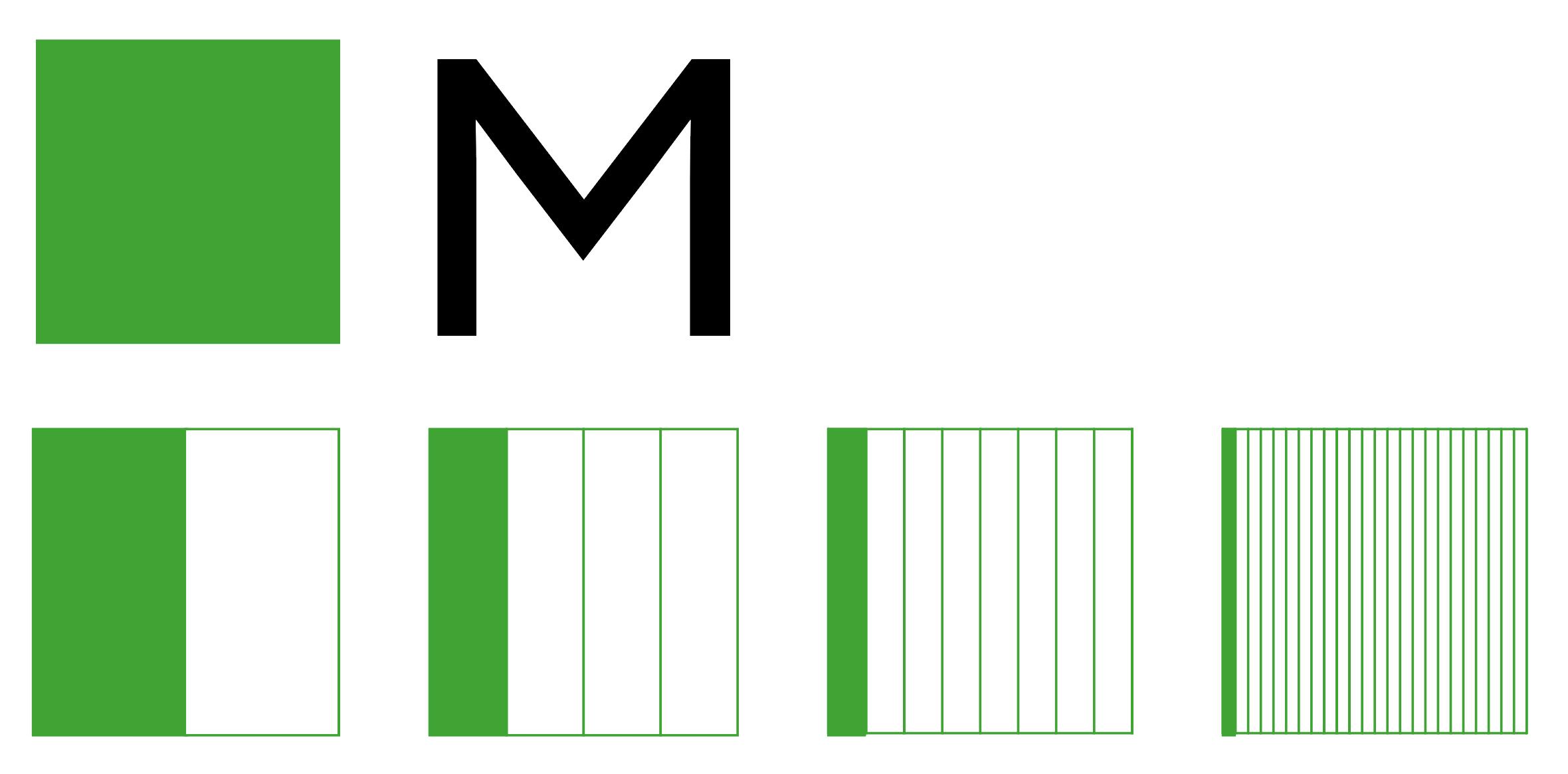 typografie - Halbgeviert und Achtelgeviert