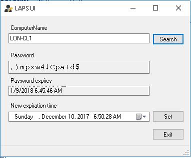 Admin Passwörter