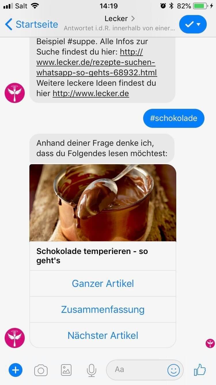 chatbot beispiel