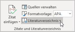 Auswahlbefehl LITERATURVERZEICHNIS