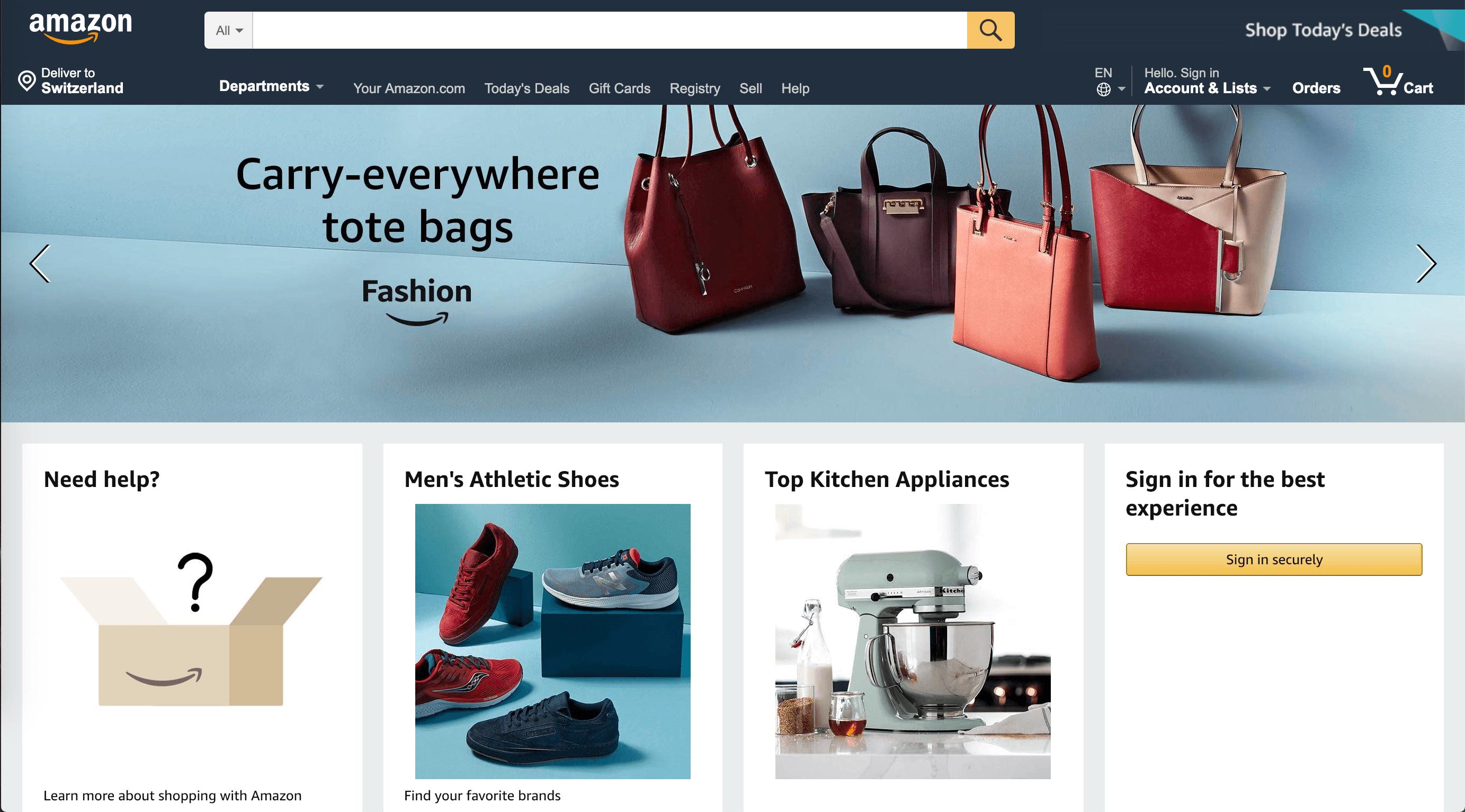 ux - User needs Amazon