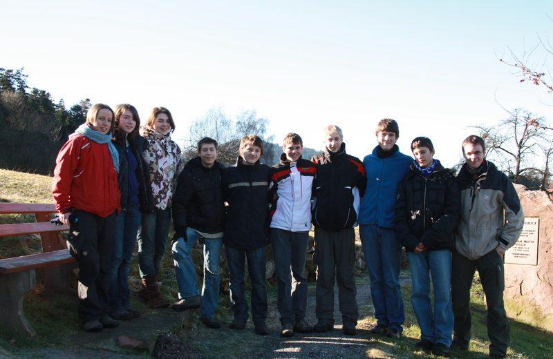 Gruppenbild am Hauslager