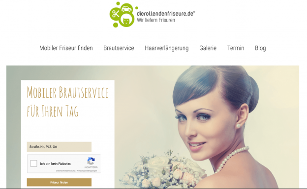 Screen Webseite mobiler Brautservice