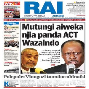Mutungi aiweka njia panda ACT Wazalendo