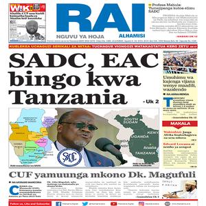 SADS  EAC bingo kwa Tanzania