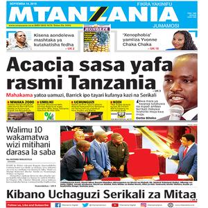 Acacia sasa yafa rasmi Tanzania