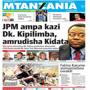 JPM ampa kazi Dk Kipilimba amrudisha Kidati