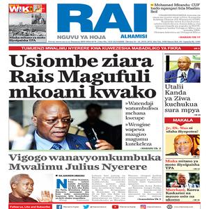 Usiombe ziara Rais Magufuli mkoani kwako