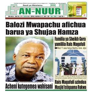 Balozi Mwapachu afichua barua ya Shujaa Hamza
