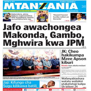 Jafo awachongea Makonda  Gambo  Mghwira kwa JPM