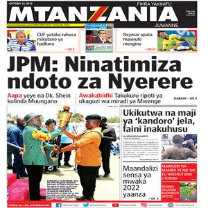 JPM  Ninatimiza ndoto za Nyerere