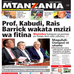 Prof  Kabudi  Rais Barrick wakata mzizi wa fitina