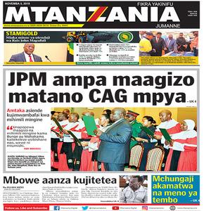 JPM ampa maagizo matano CAG mpya