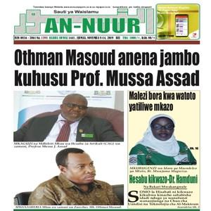 Othman Masoud anena jambo kuhusu Prof  Mussa Assad