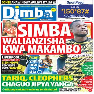 SIMBA WALIANZISHA KWA MAKAMBO