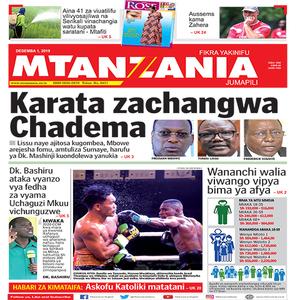 Karata zachangwa Chadema
