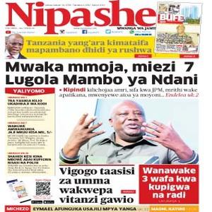 Mwaka mmoja  miezi 7 Lugola Mambo ya Ndani