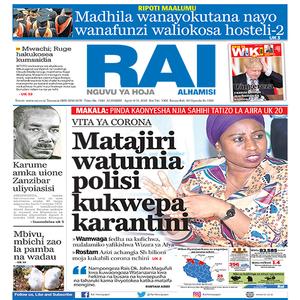 VITA YA CORONA  Matajiri watumia polisi kukwepa karantini