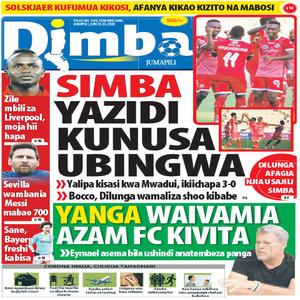 SIMBA YAZIDI KUNUSA UBINGWA