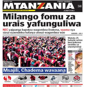 Milango fomu za urais yafunguliwa