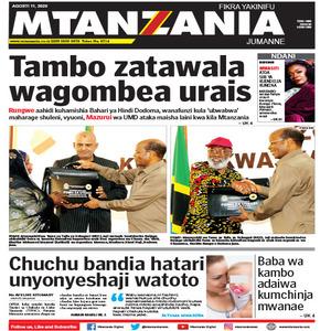 Tambo zatawala wagombea urais
