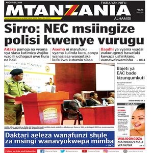 Sirro  NEC msiingize polisi kwenye vurugu
