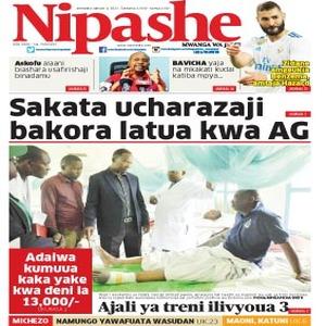 Sakata ucharazaji bakora latua kwa AG