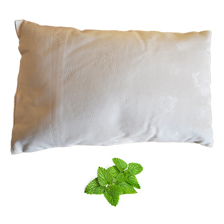 buckwheat husk pillow lemon balm