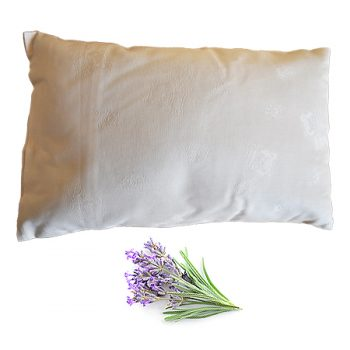 buckwheat husk pillow with lavender