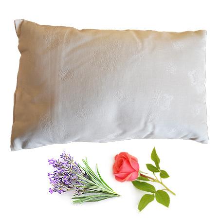 spelt pillow lavender rose