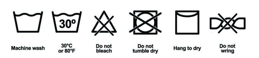 organic fabrics washing instruction