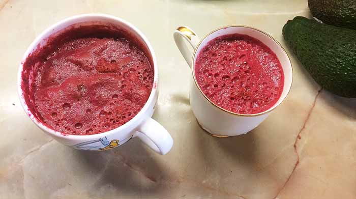 beetroot carrots and apples juice